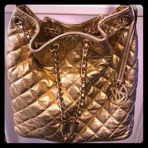 Gold Michael Kors Frankie Quilted Purse